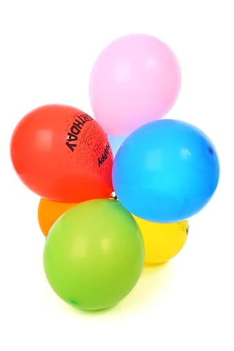 Assorted-color balloons photo