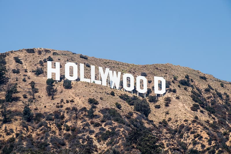 Hollywood sign in California