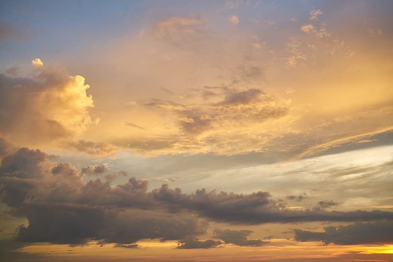 Time lapse photography of clouds