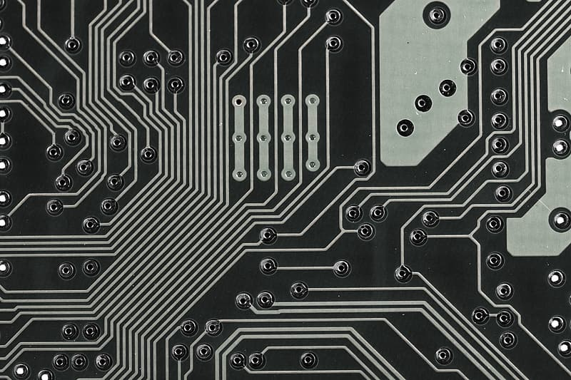 Black and gray circuit board