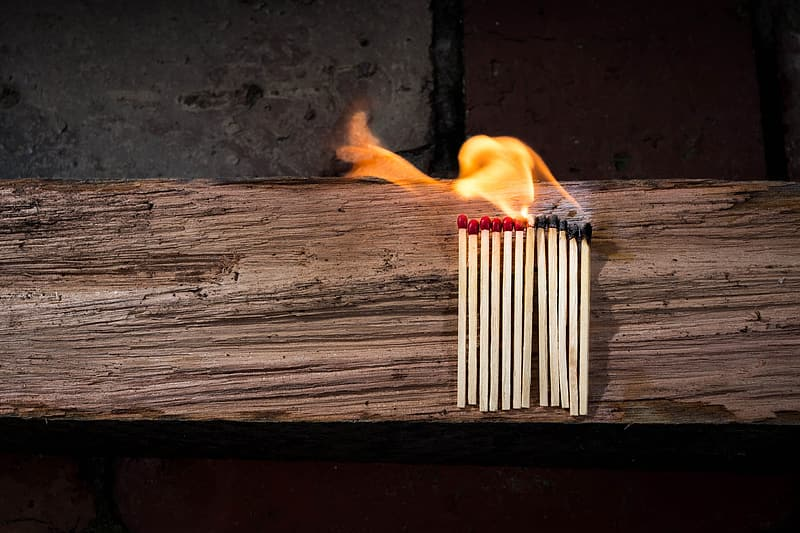 Lined and fire safety match sticks