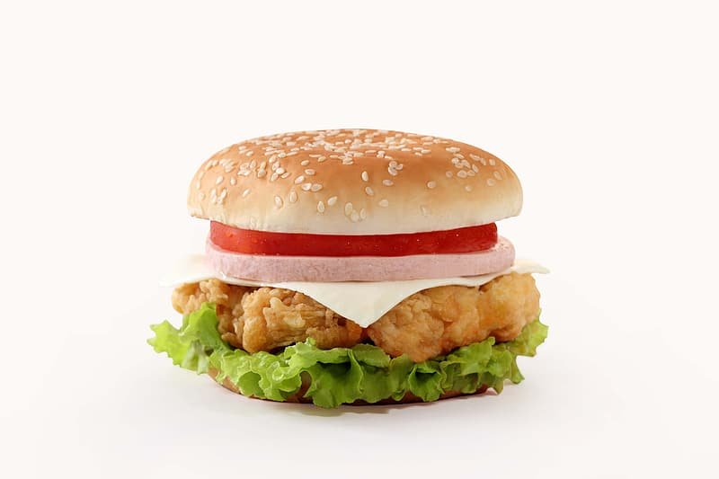 Chicken with tomato burger