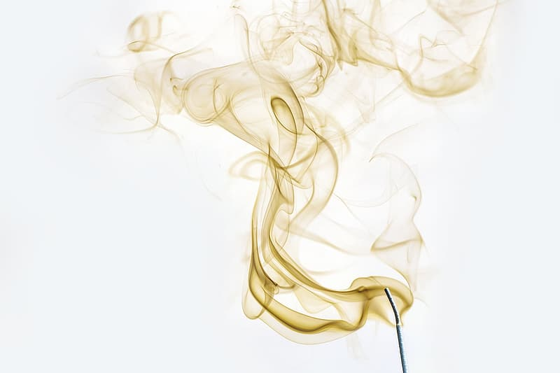 Timelapse photography of incense smoke graphic wallpaper