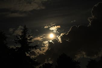 Sun covered by clouds