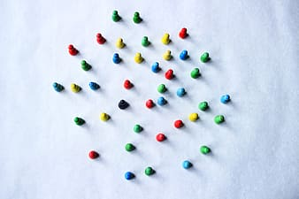 Assorted-color plastic beads