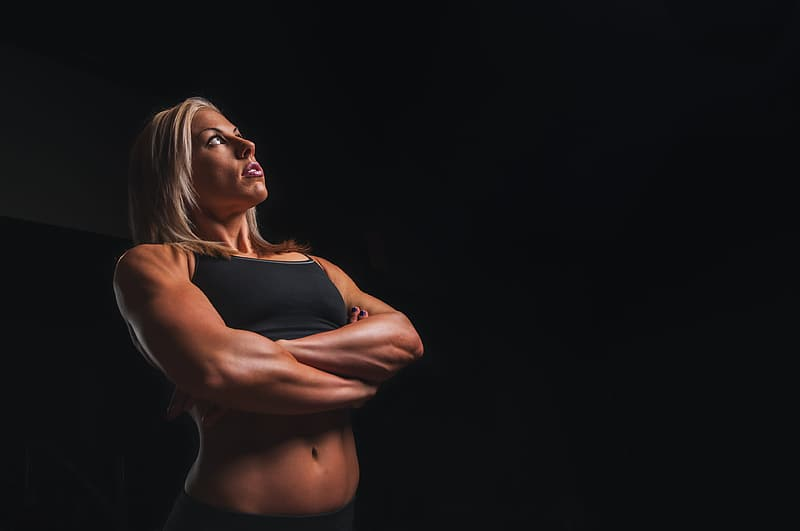 Training, arms, blonde, workout, fitness, exercise, sport, gym, strong, young