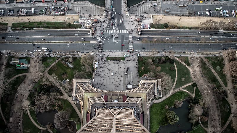 Aerial photography of Eiffel Tower, Paris