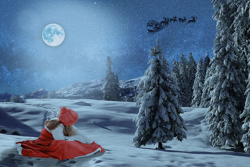 Women's white and red dress on snowfield screenshot