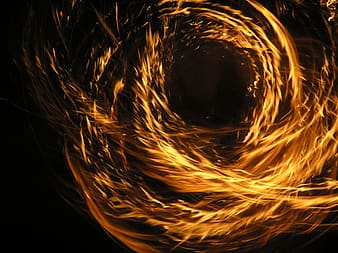 Timelapse photography of flames