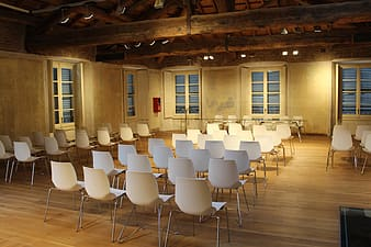 Chairs in conference meeting room