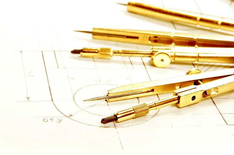 White and gold click pen