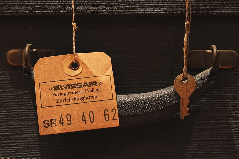Luggage Tag on Travel Suitcase