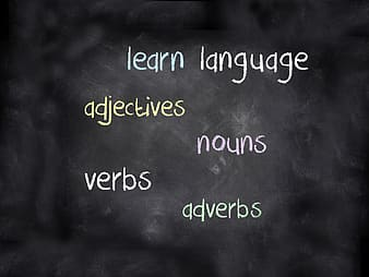 White learn language on black board