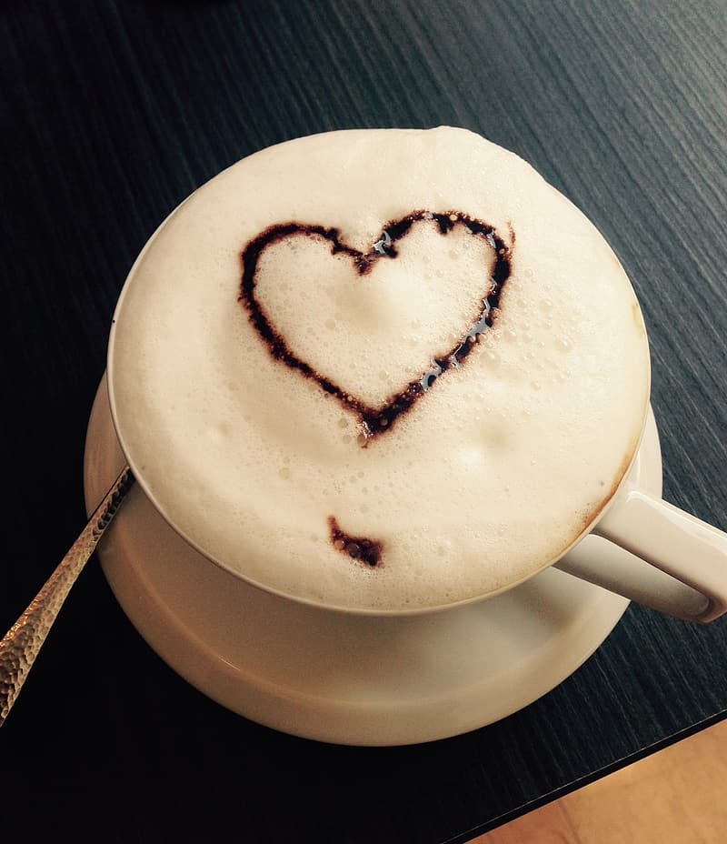 Photography of coffee latte