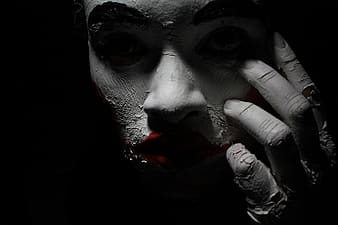 Selective color photography of man's face