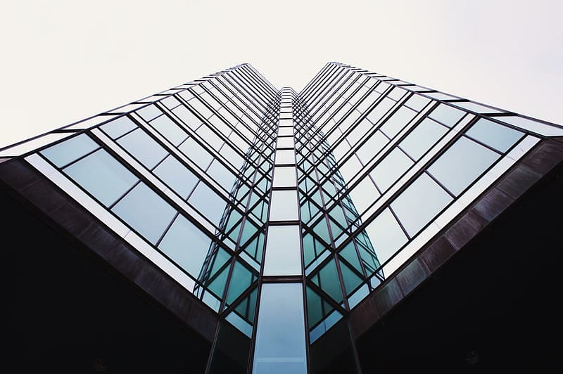 Low-angle of building photography
