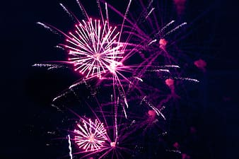 Low-angle view of fireworks display