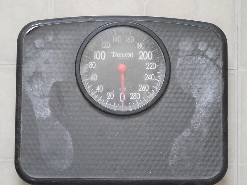 Black Taylor weight scale