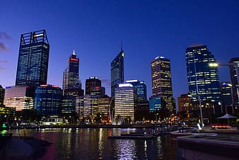 Cityscape photography during night time