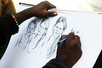 Person sketch four girls