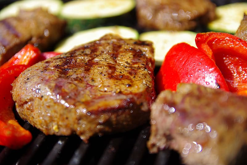 Close up photography of grilled meat