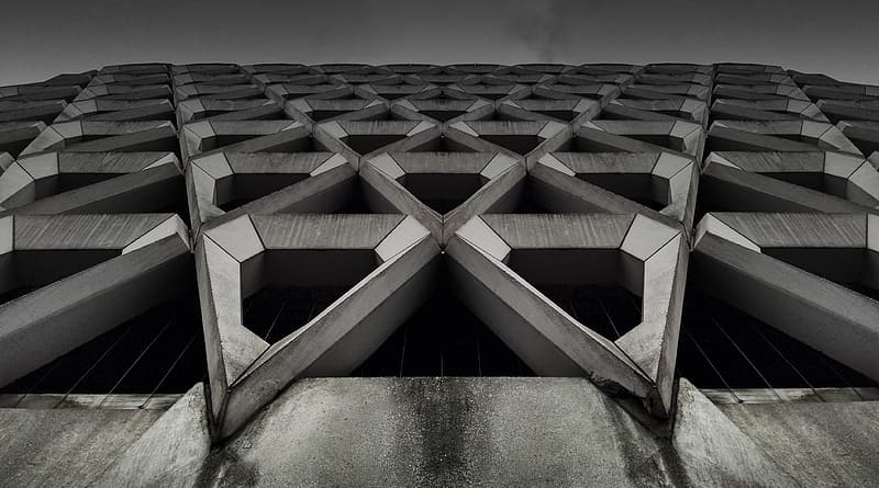 Gray concrete building