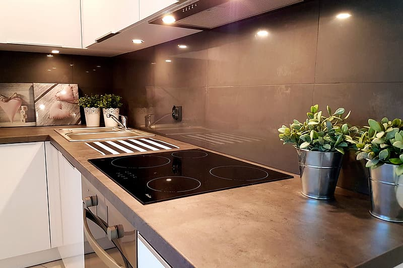 Kitchen in apartment home