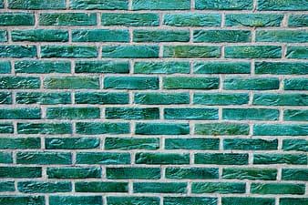 Green concrete brick wall