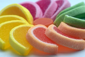 Close-up photo of jelly candies
