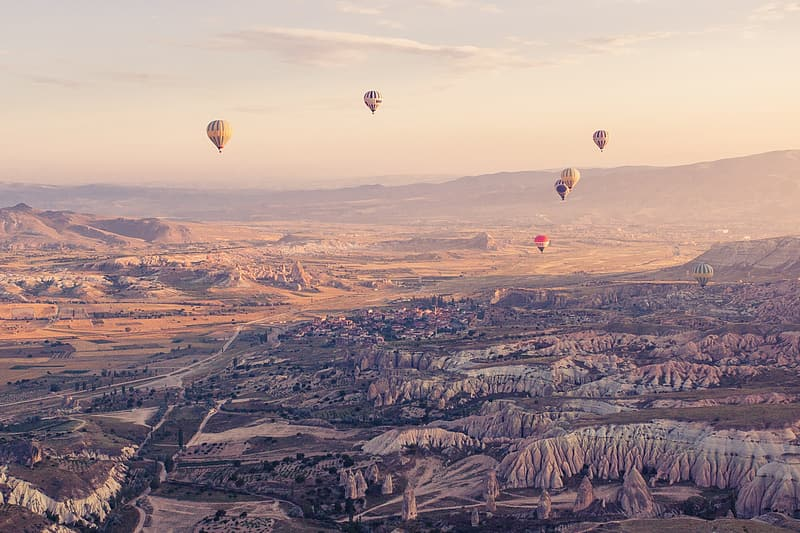 Aerial photography of hot air balloons during daytime