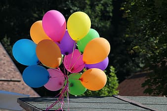 Assorted colored balloons