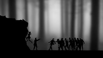 Silhouette of group of people illustration