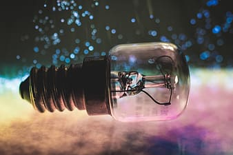 Selective focus photography of LED light