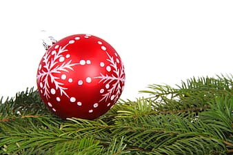 Red and white Christmas tree ball decor