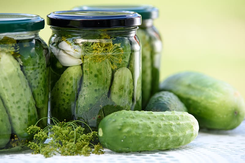 Photo of air tight jar with vegetables