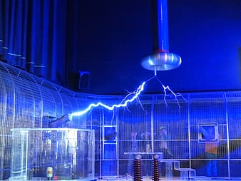 Photography of electricity inside building