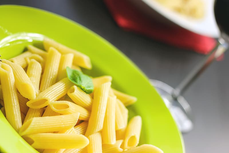 Pasta without sauce