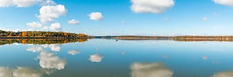 Panorama photography of body of water