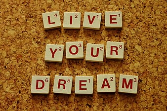 Live your dream scrabble block