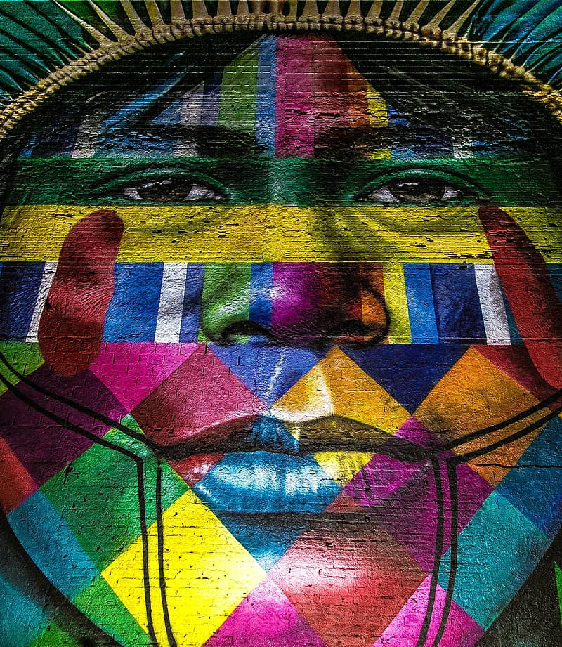 Multicolored tribal painting