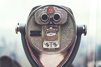 tower viewer, binoculars, lookout, view, coin operated, focus on foreground, close-up, coin-operated binoculars, day, tourism