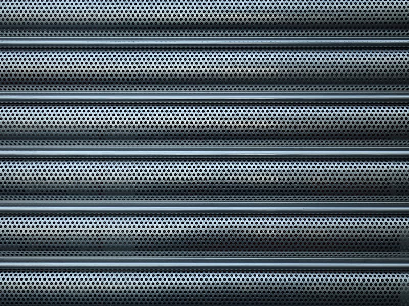 Black and blue striped textile