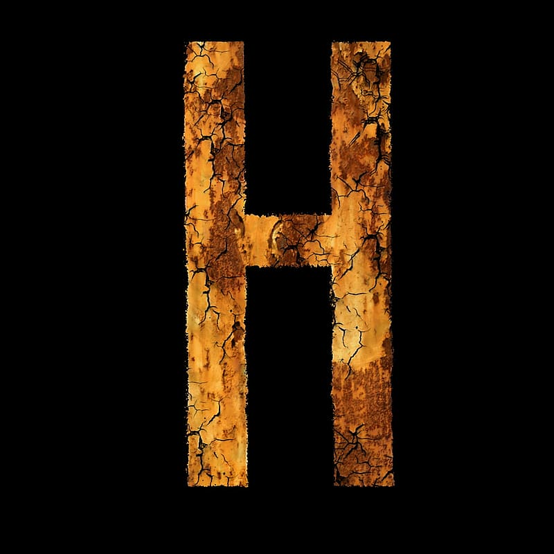Brown wooden H letter