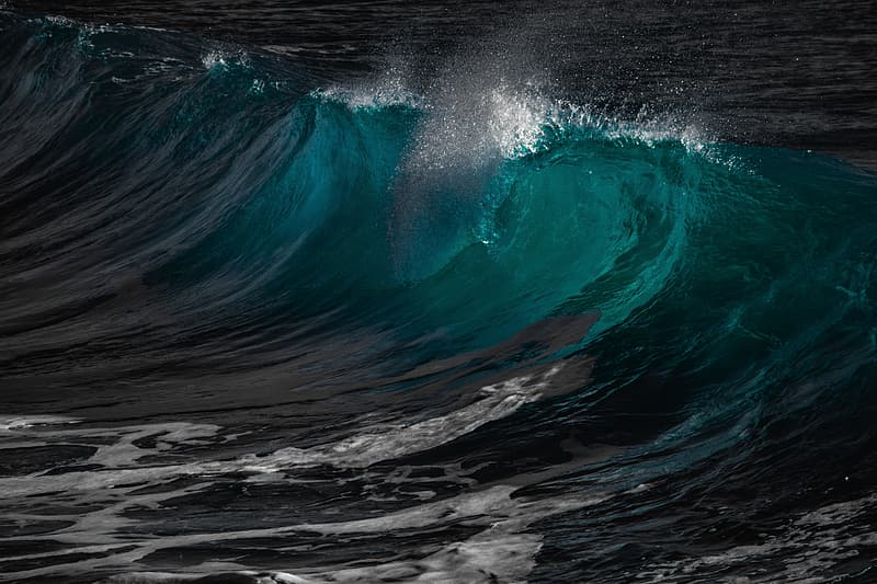 Closeup photo of water waves