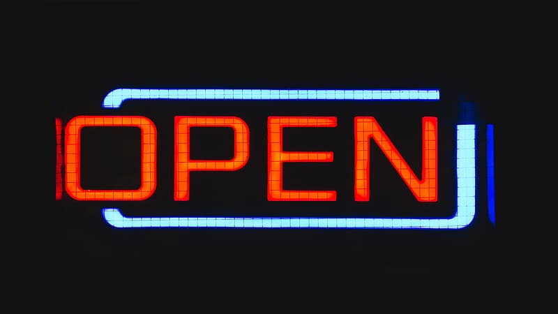 Open LED sign
