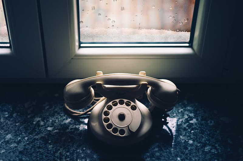 An old vintage telephone