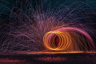 Time lapse photography of fireworks during nighttime