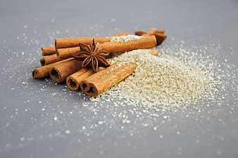 Closeup photography of brown star anis and cinnamon