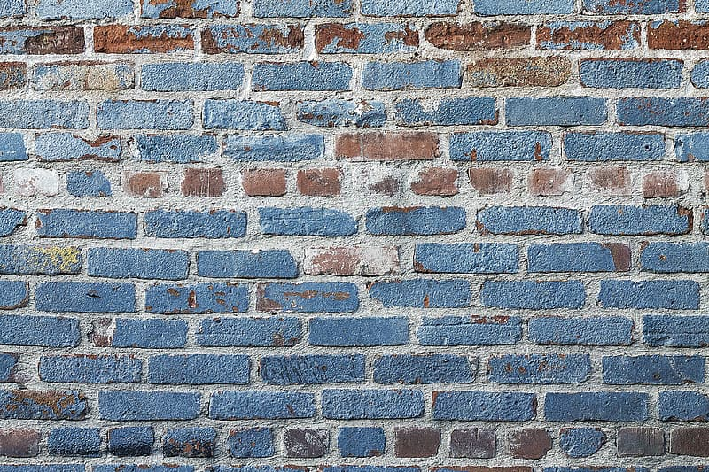 Gray and brown concrete bricks wall