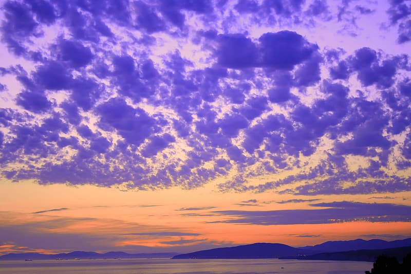 Blue and white cloudy sky during sunset